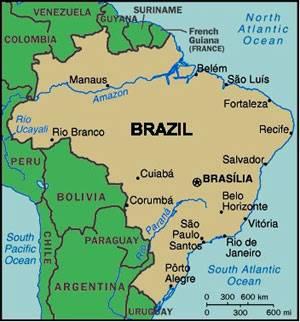 KLIK voor een andere kaart van                                     BRAZILIË